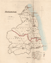 Northumberland county map. Electoral divisions boroughs. REFORM ACT. DAWSON 1832